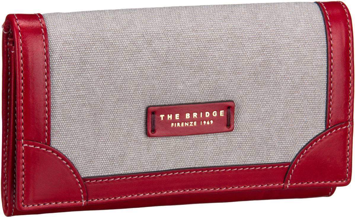 Geldboersen für Frauen - The Bridge Auster Damenbörse 7328 Naturale Rosso Kellnerbörse  - Onlineshop Taschenkaufhaus