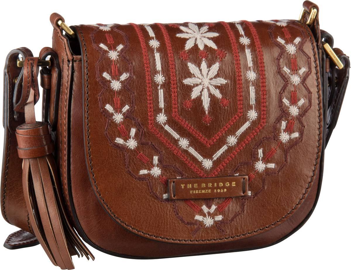 Umhängetasche Fiesole Handtasche 1217 Marrone/Oro