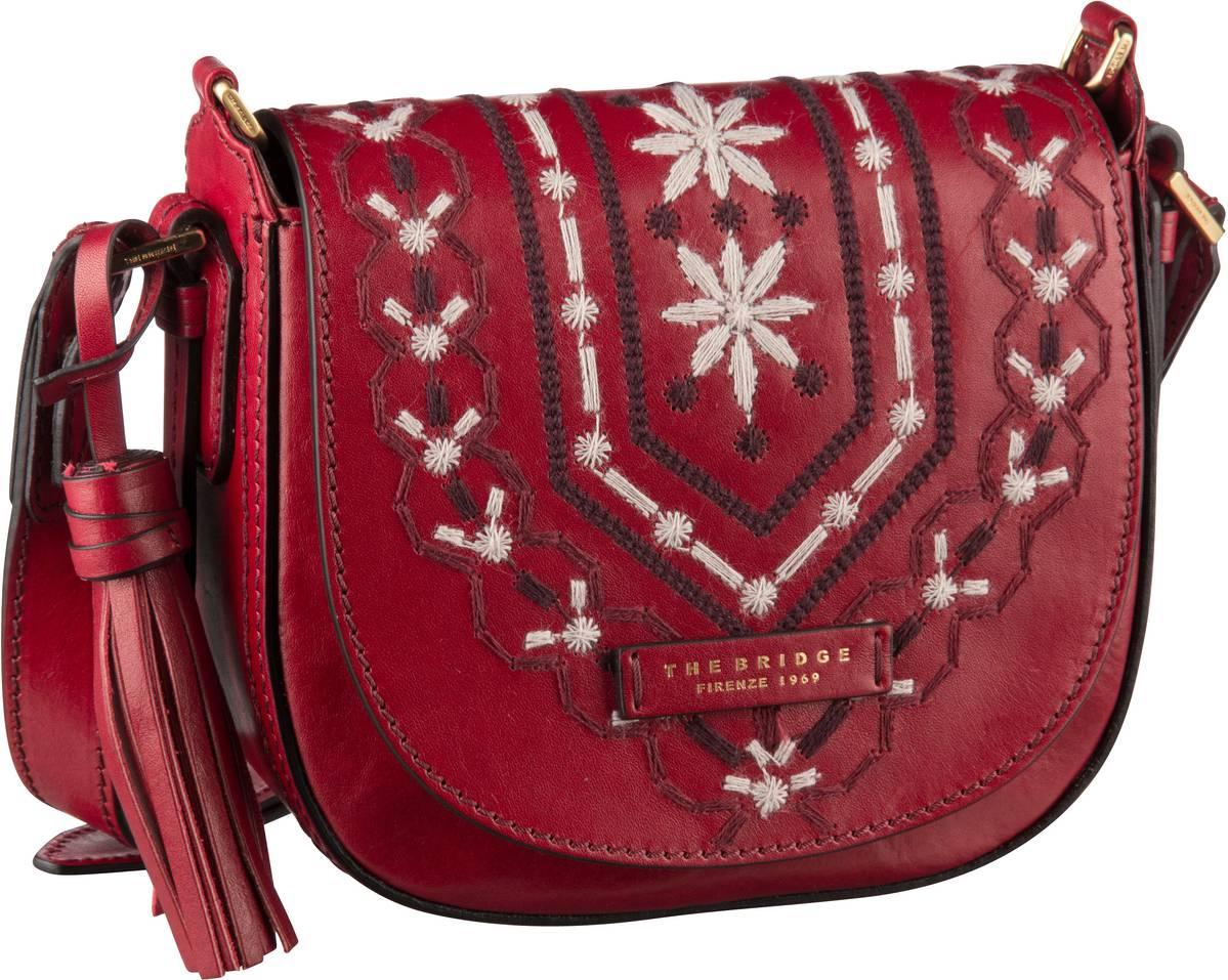 Umhängetasche Fiesole Handtasche 1217 Rosso Ribes/Oro
