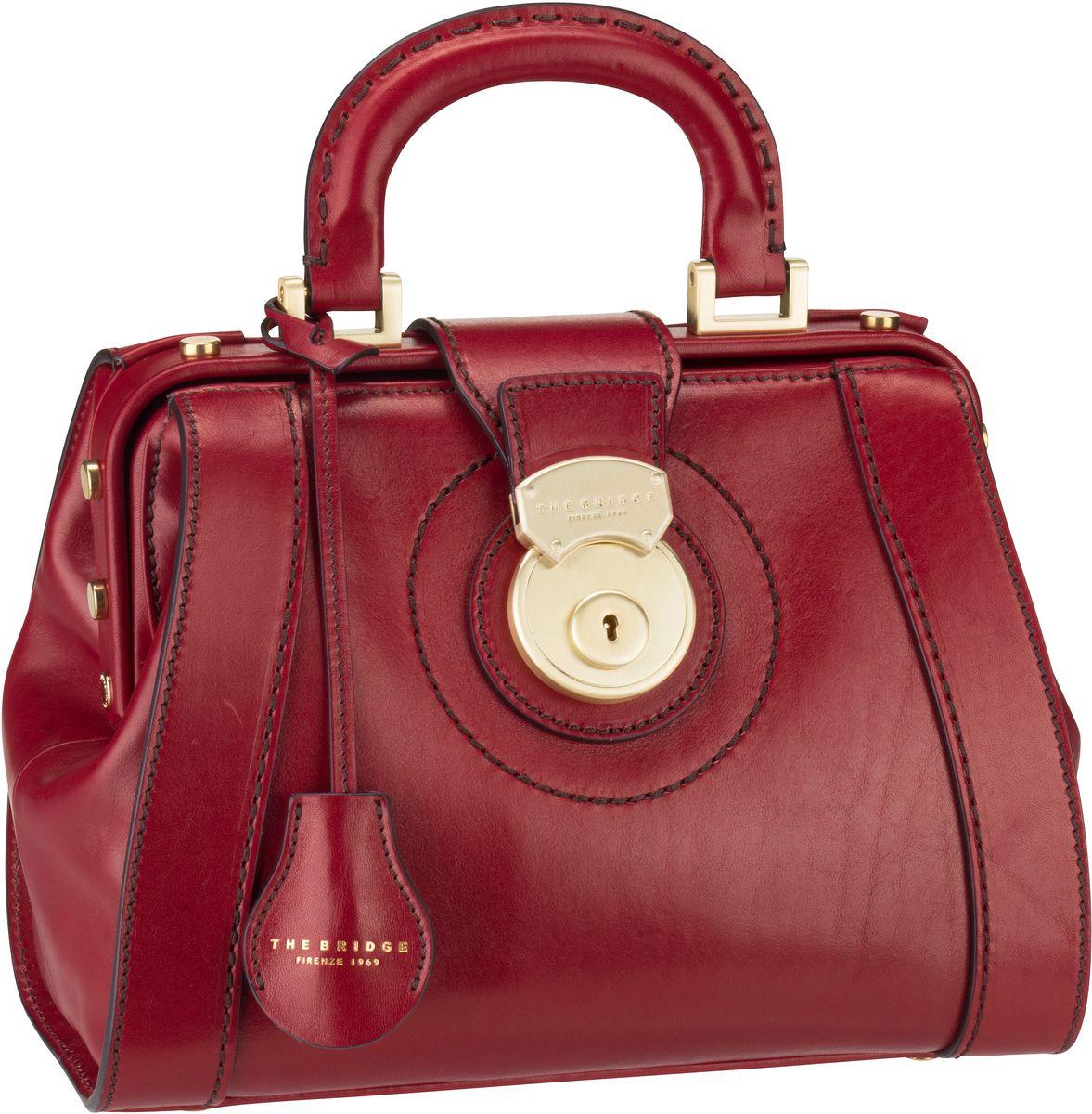 Handtasche Rufina Arzttasche 3018 Rosso Ribes/Oro