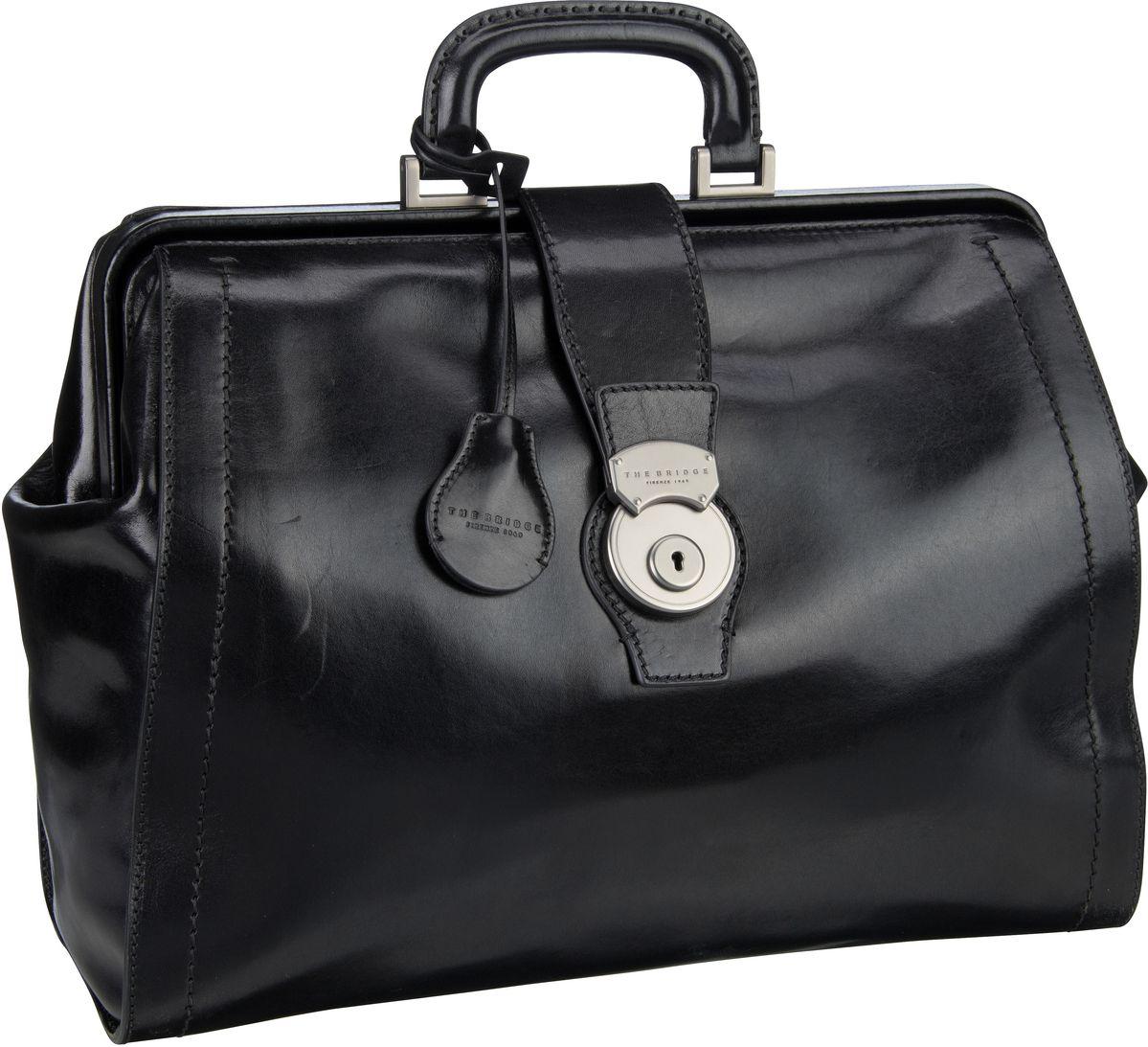 Handtasche Capalbio Arzttasche 2058 Nero/Rutenio Scuro