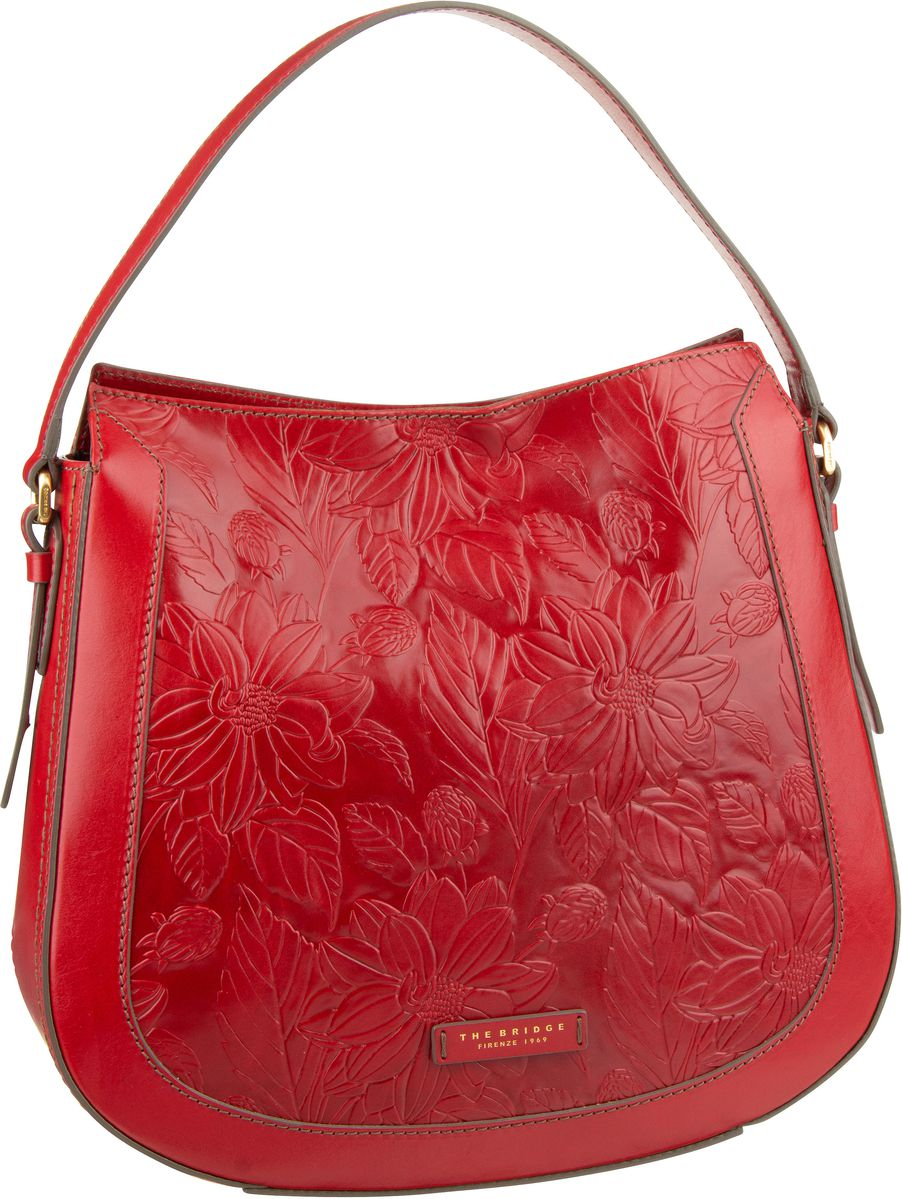 Handtasche Capraia Beuteltasche 3437 Rosso Ciliegia/Oro
