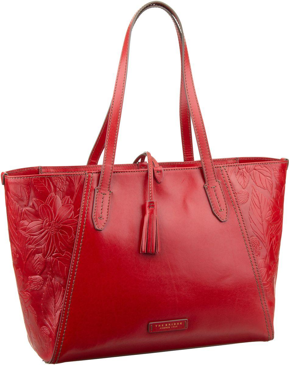 Handtasche Capraia Shopper 3447 Rosso Ciliegia/Oro