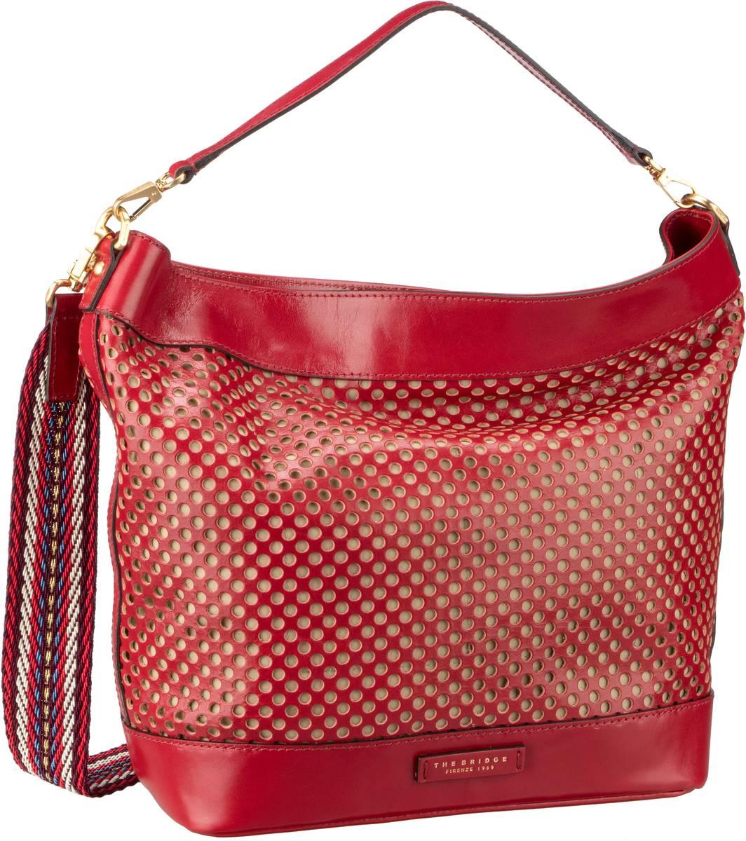 Handtasche Palmaiola Hobo Bag 2809 Rosso Ciliegia/Oro
