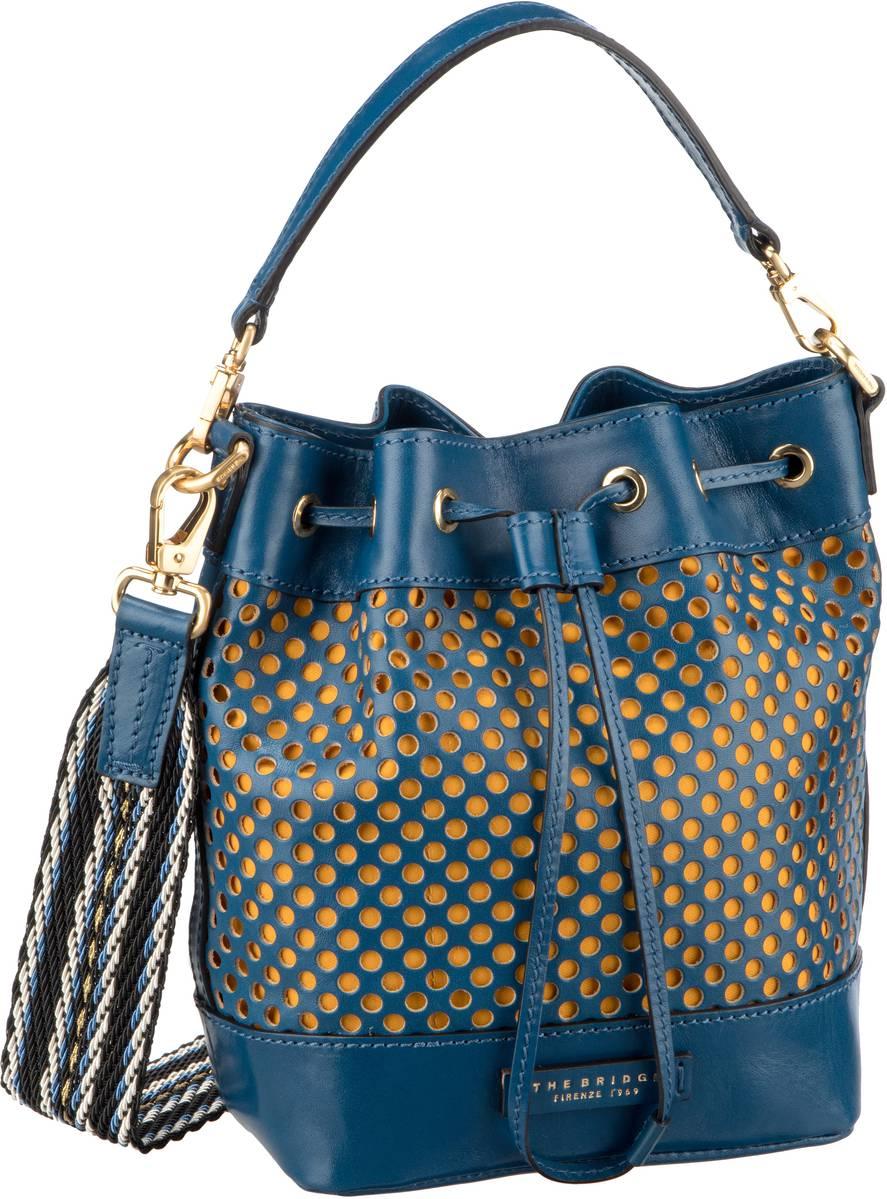 Handtasche Palmaiola Beuteltasche 2819 Blu Tirreno/Oro