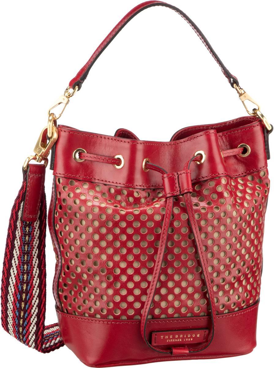 Handtasche Palmaiola Beuteltasche 2819 Rosso Ciliegia/Oro