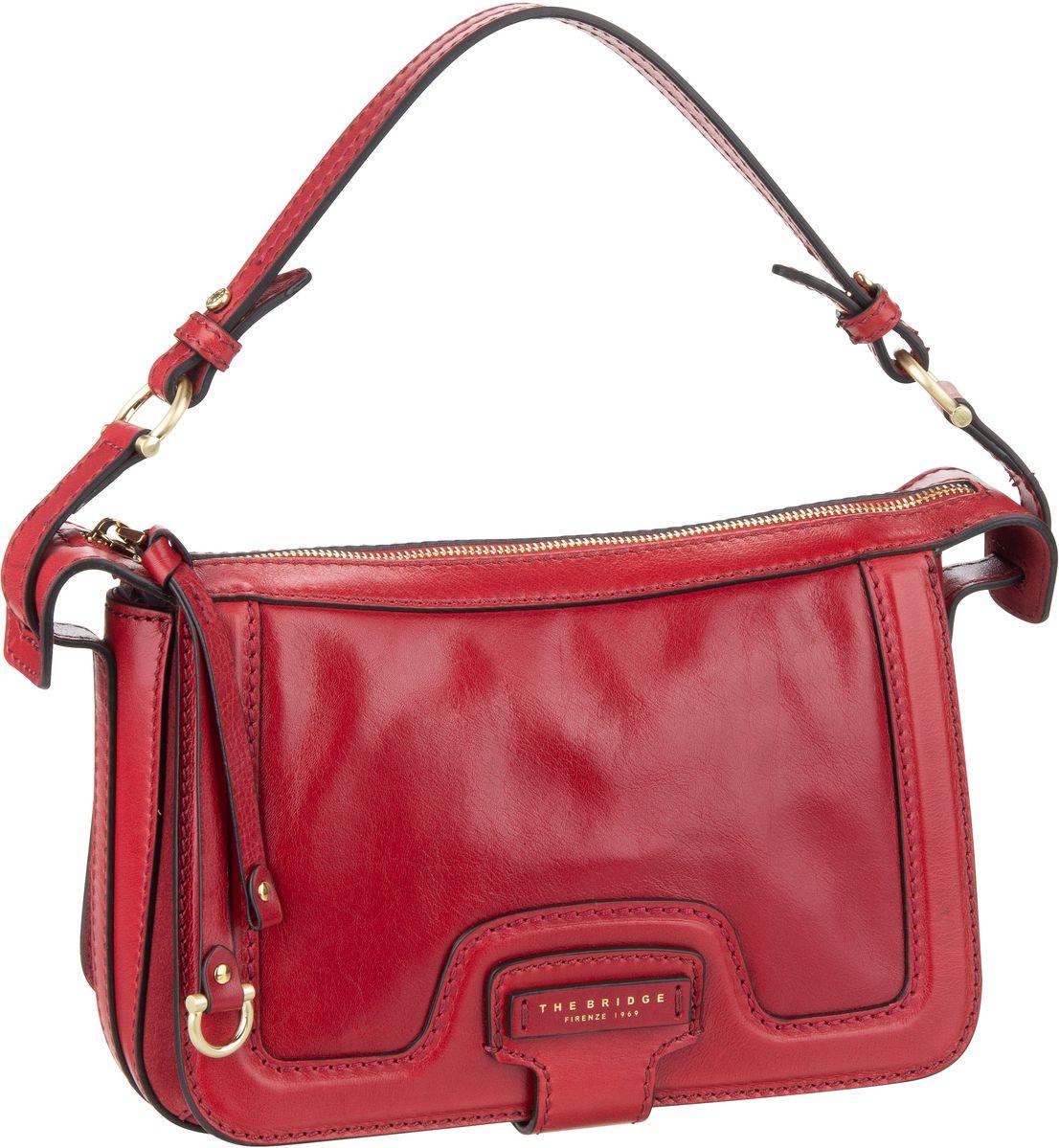 Handtasche Giglio Schultertasche 3049 Rosso Ciliegia/Oro