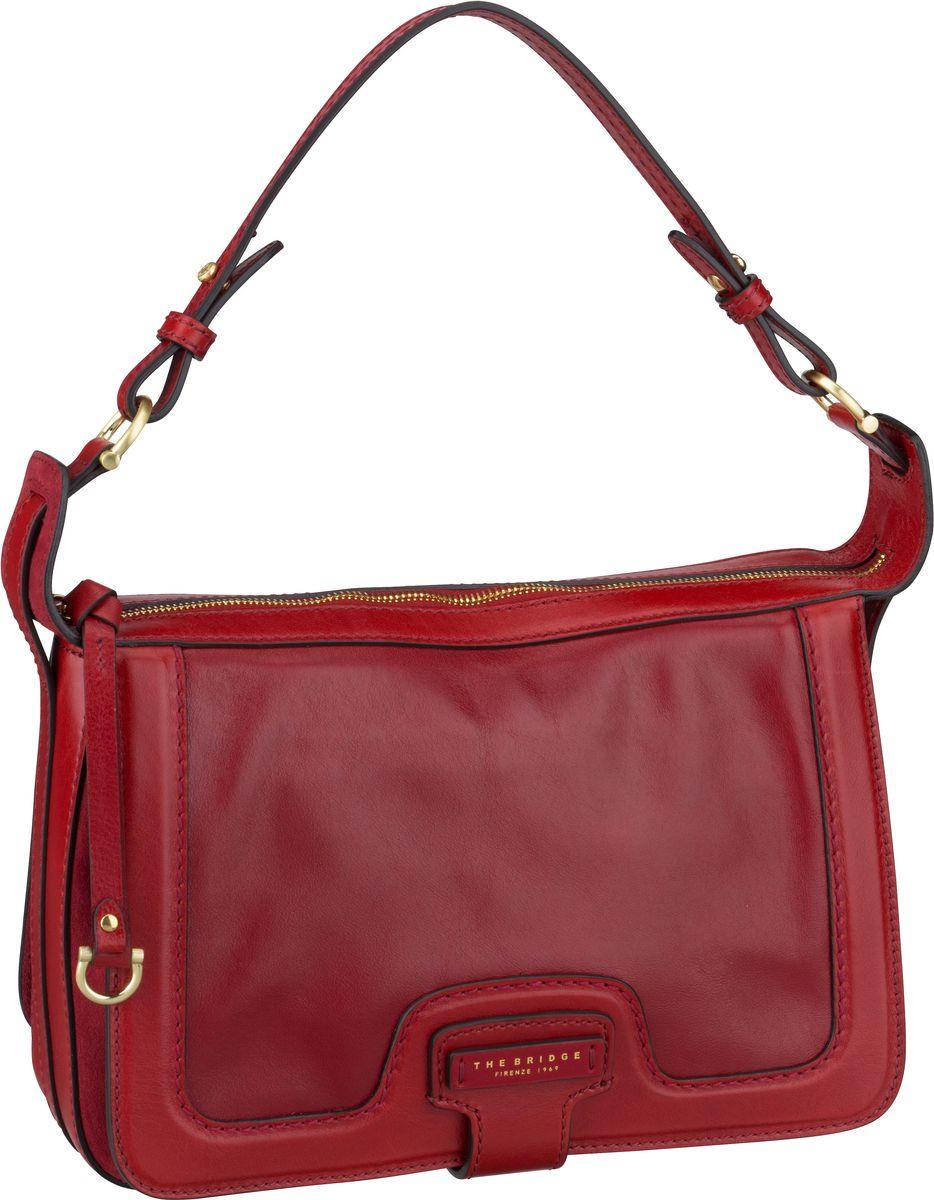 Handtasche Giglio Schultertasche 3059 Rosso Ciliegia/Oro