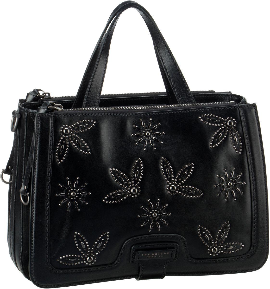 Handtasche Giglio Handtasche 3029 Studs Nero/Rutenio Scuro