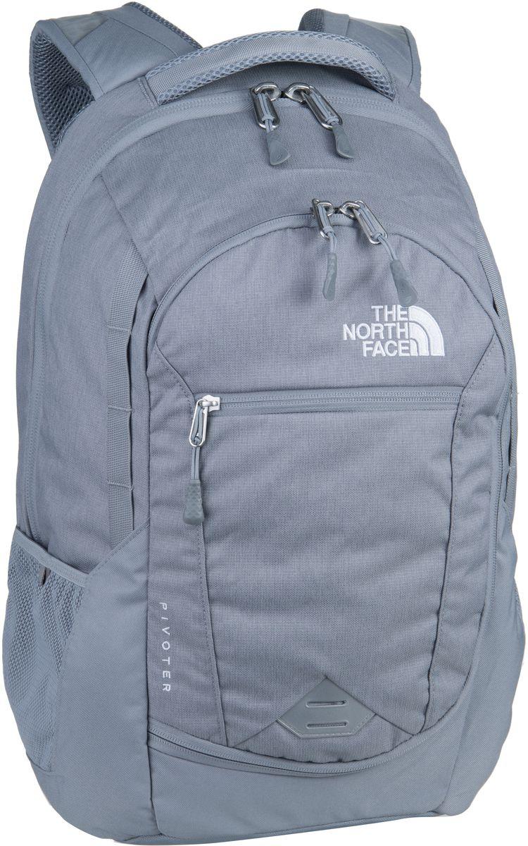 The North Face Pivoter Mid Grey Dark Heather/Mid Grey - Laptoprucksack