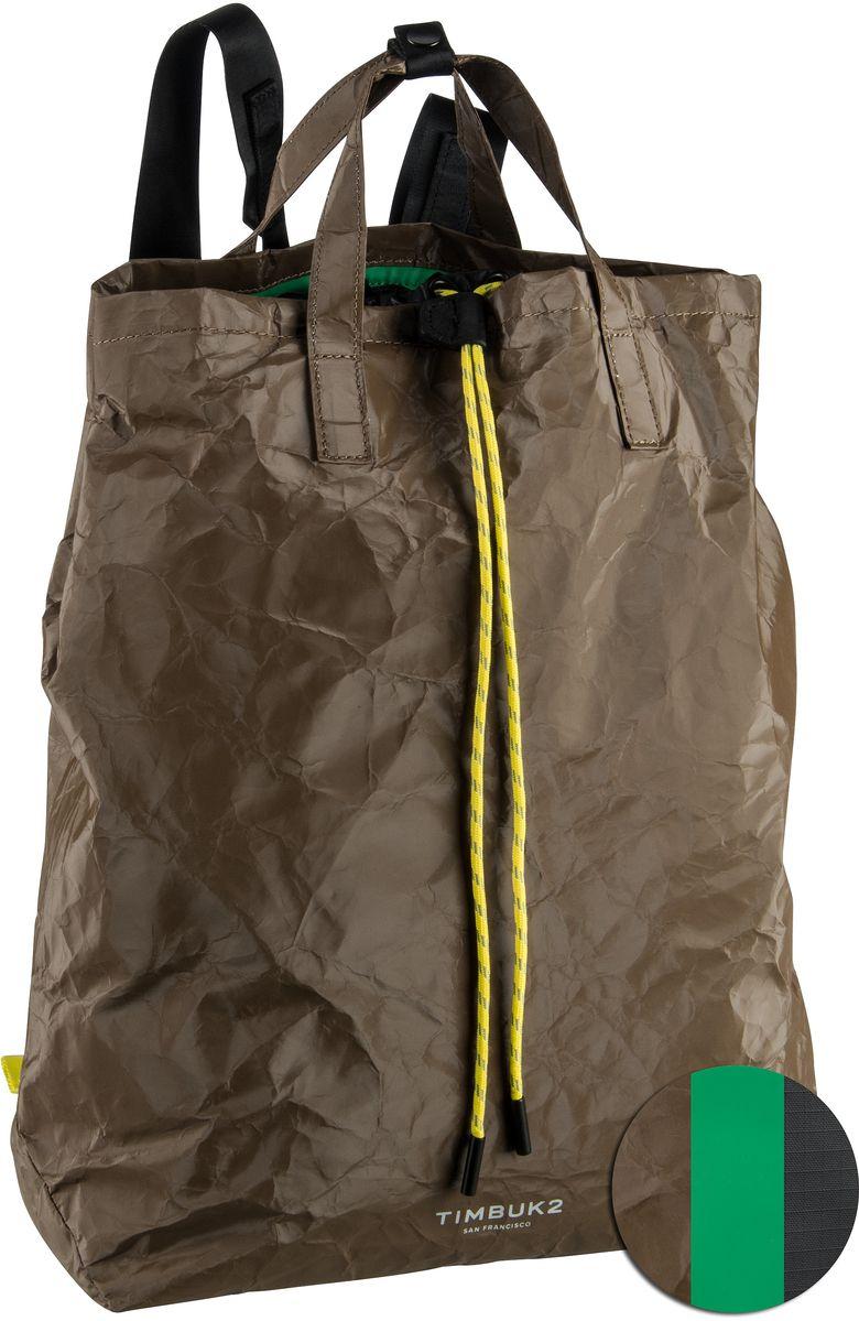 Rucksack / Daypack Paper Bag Tote Slit (innen: Grün) (16 Liter)