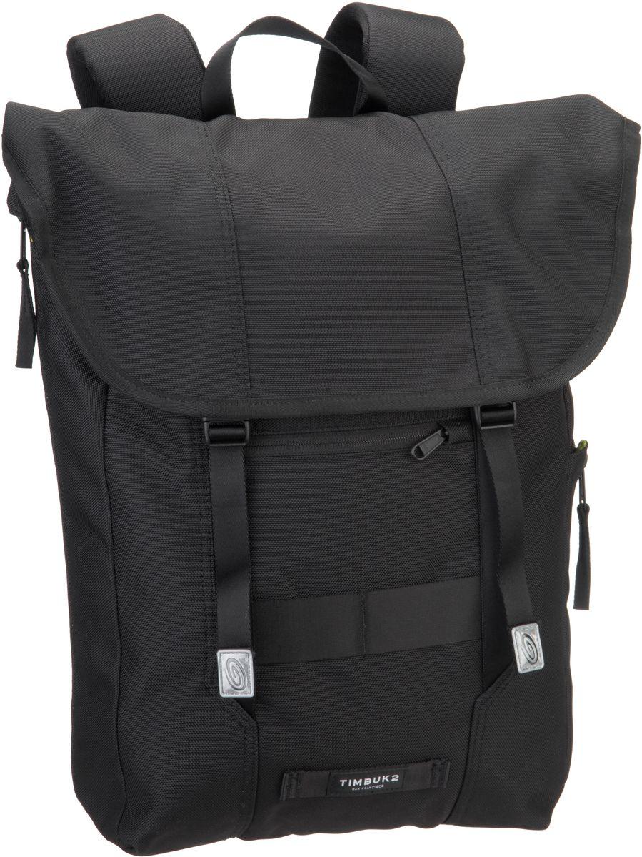 Laptoprucksack Swig Pack Jet Black (innen: Neongelb) (16 Liter)
