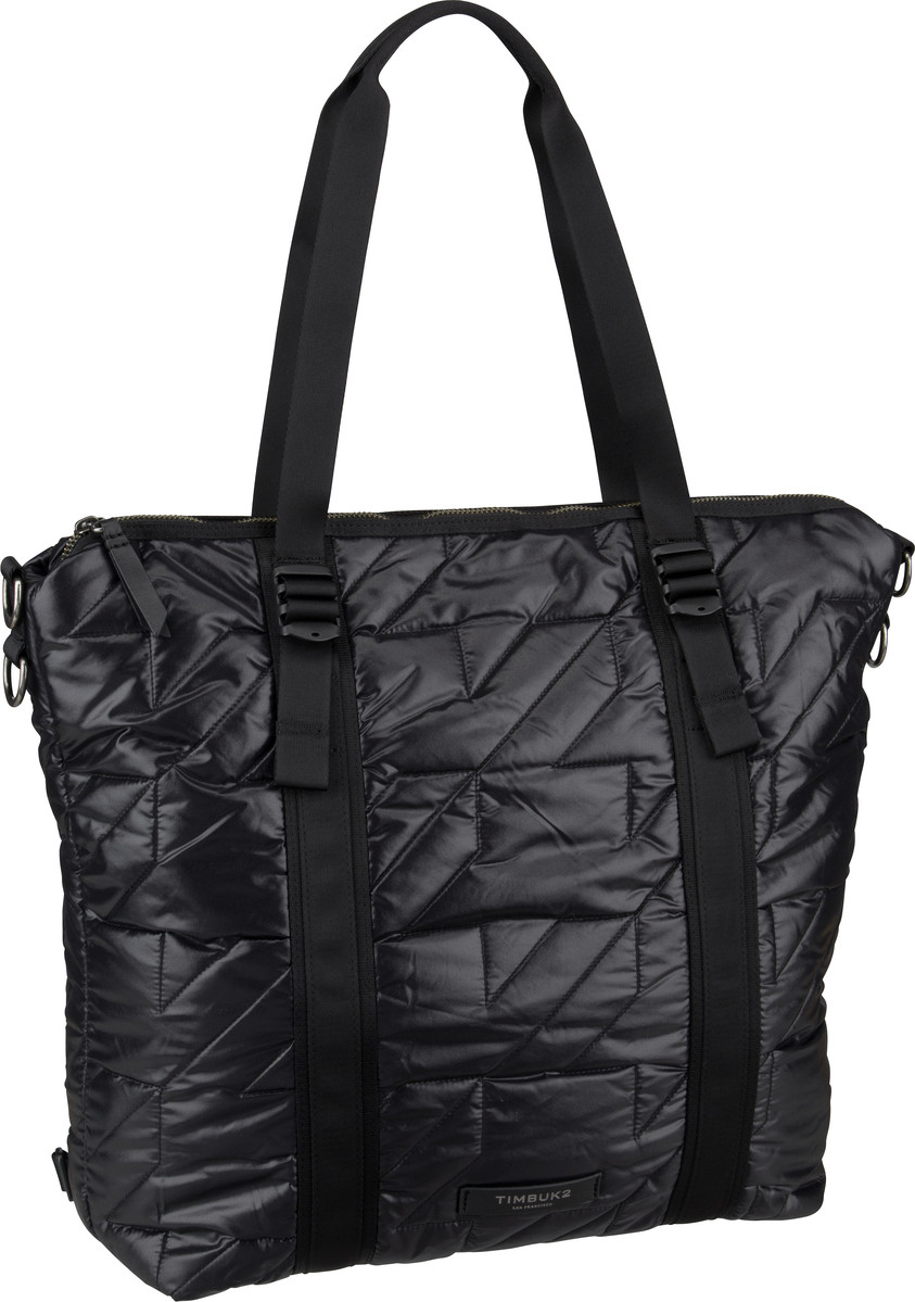 Handtasche Parcel Tote Quilted Jet Black Quilted (20 Liter)