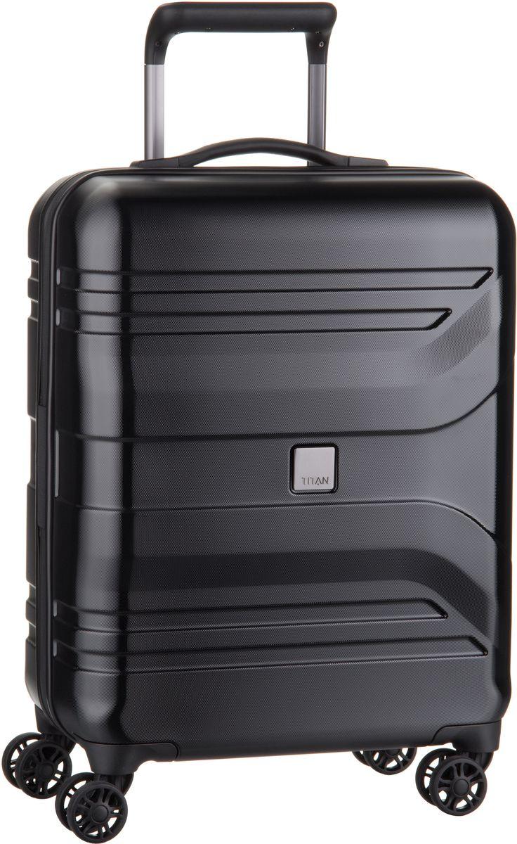 Titan Prior 4-Wheel Trolley S Dark Black - + Koffer Sale Angebote Jämlitz-Klein Düben