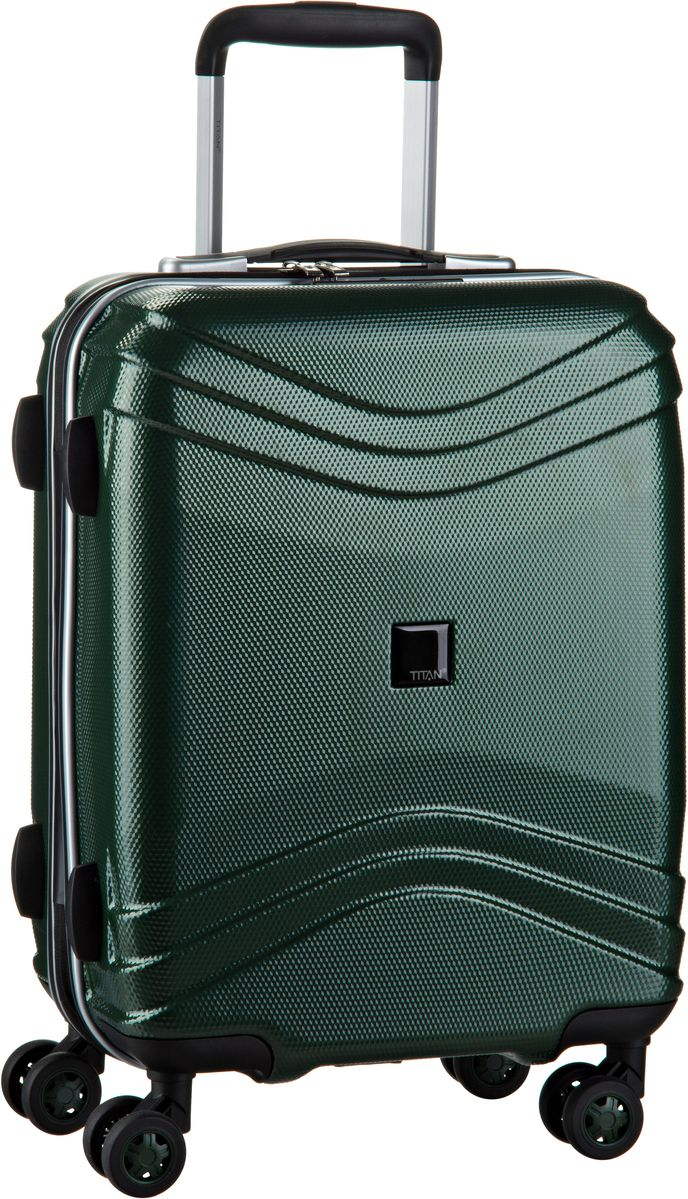 Titan Libra 4-Wheel Trolley S Emerald Green - Trolley + Koffer