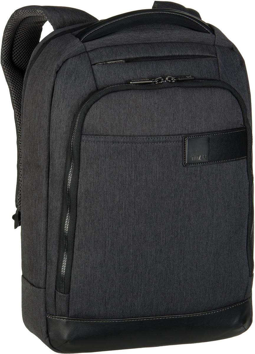 Titan Power Pack Backpack Slim Mixed Grey - Laptoprucksack