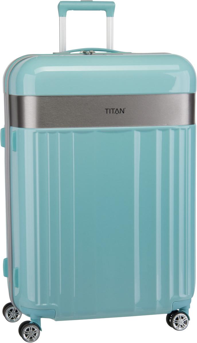 Reisegepaeck für Frauen - Titan Trolley Koffer Spotlight Flash 4 Wheel Trolley L Mint (102 Liter)  - Onlineshop Taschenkaufhaus