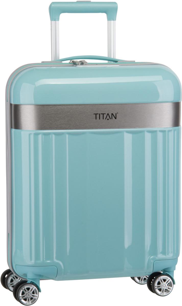 Reisegepaeck für Frauen - Titan Trolley Koffer Spotlight Flash 4 Wheel Trolley S Mint (37 Liter)  - Onlineshop Taschenkaufhaus