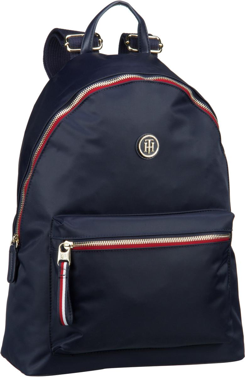 Rucksaecke für Frauen - Tommy Hilfiger Laptoprucksack Poppy Backpack 5085 Tommy Navy  - Onlineshop Taschenkaufhaus