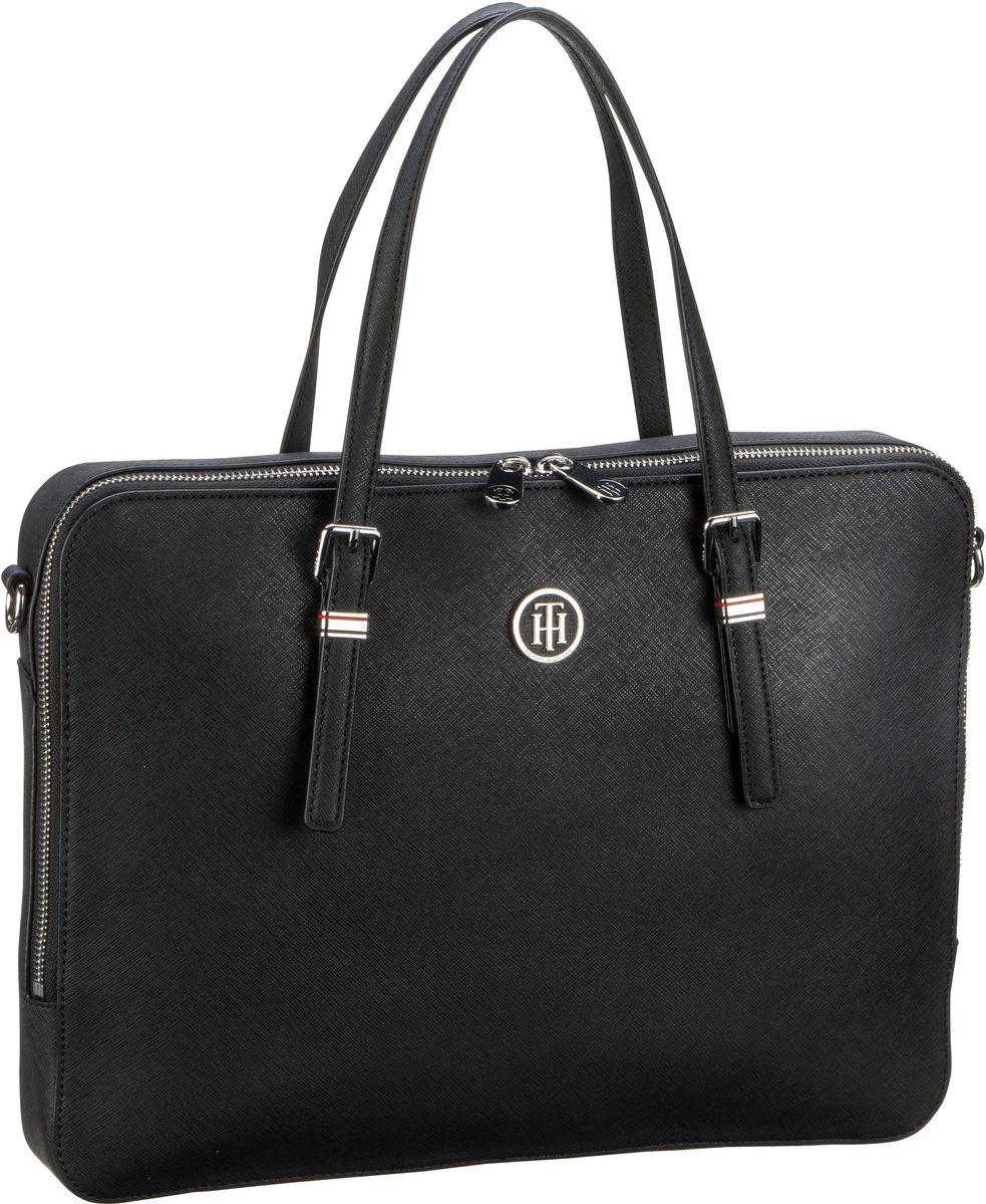 Businesstaschen für Frauen - Tommy Hilfiger Aktenmappe Honey Computer Bag 5276 Black  - Onlineshop Taschenkaufhaus