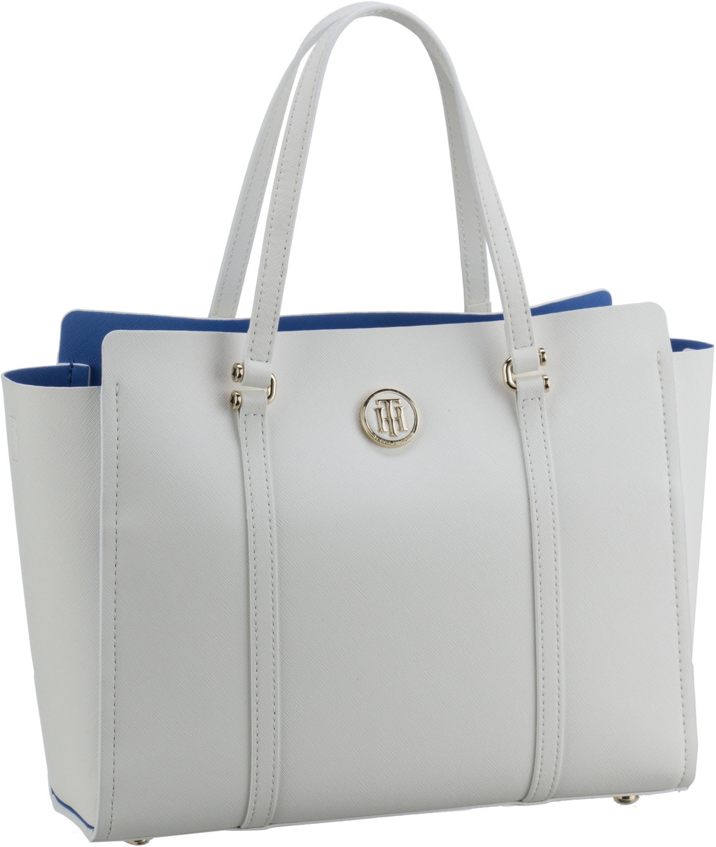 Handtasche Modern Tommy Small Tote 4977 Bright White/Regatta Blue