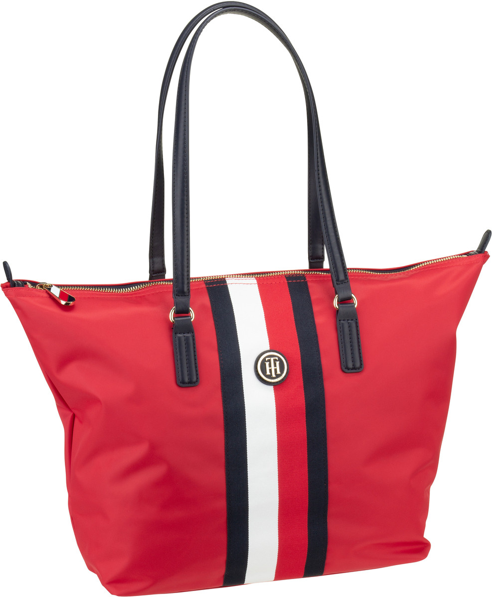 Shopper Poppy Tote Corp Stripe 5795 Tommy Red/Corp Stripe