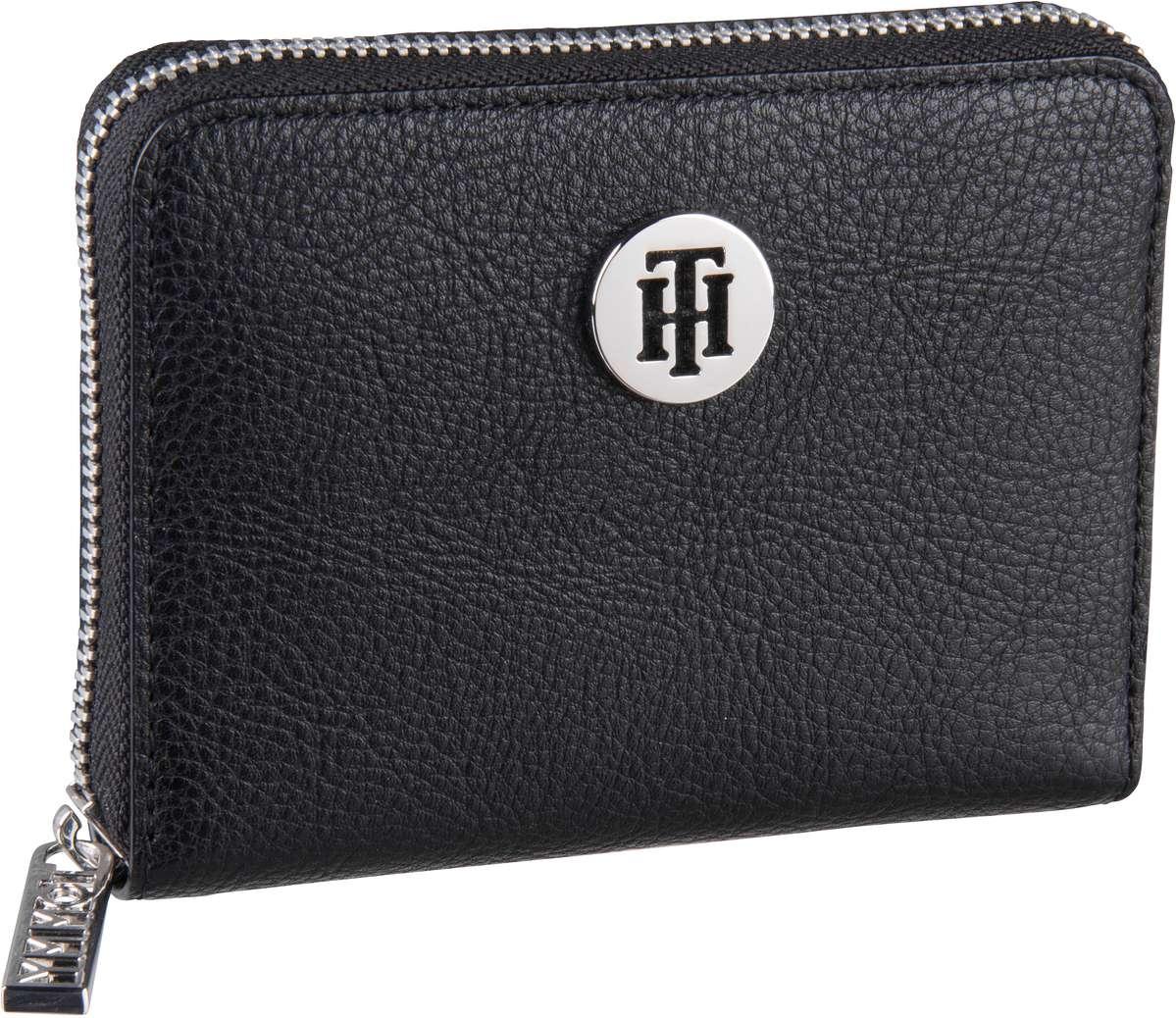 Geldboersen für Frauen - Tommy Hilfiger Geldbörse TH Core Compact ZA Wallet 6135 Black  - Onlineshop Taschenkaufhaus