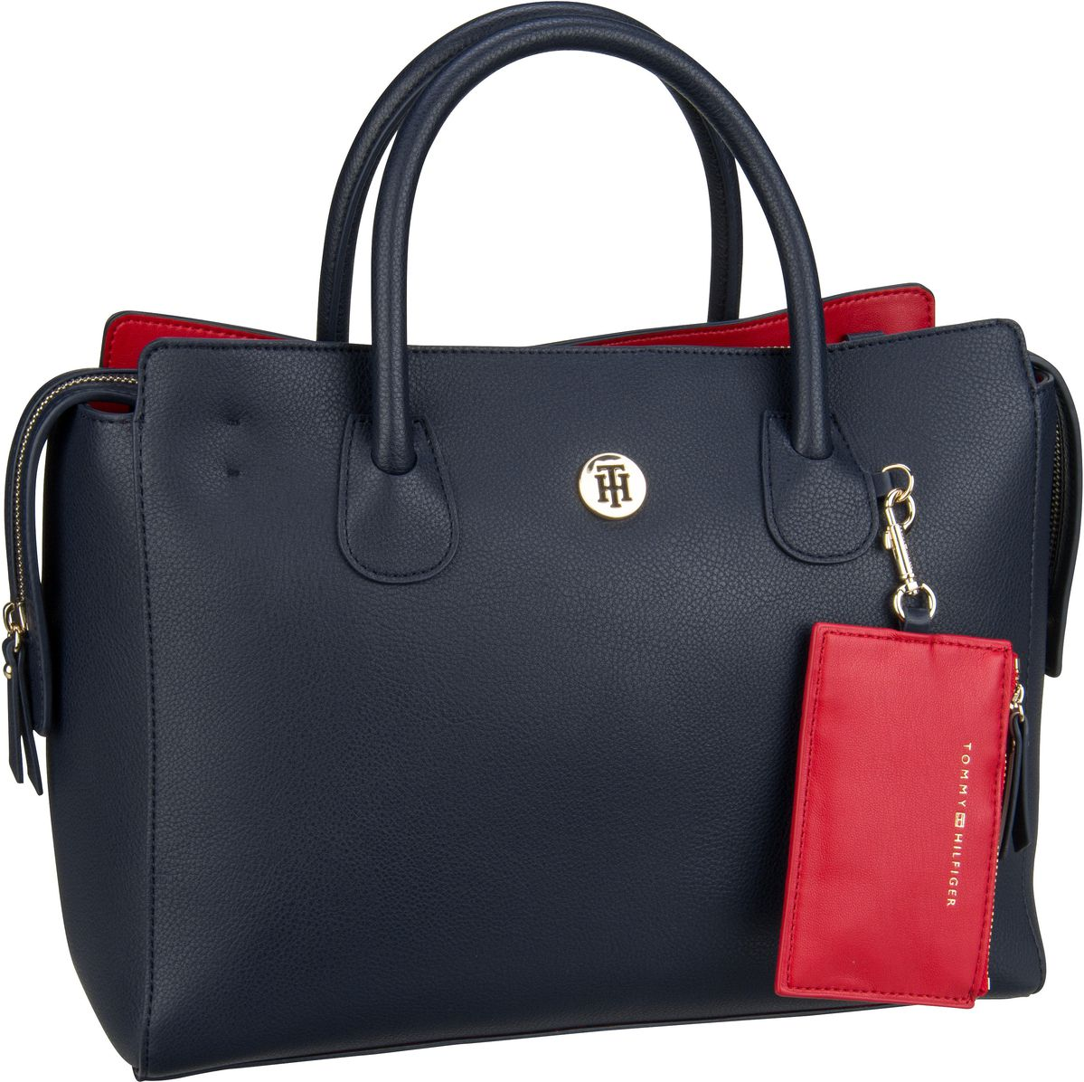 Handtasche Charming Tommy Satchel 6463 Tommy Navy/Tommy Red (innen: Rot)