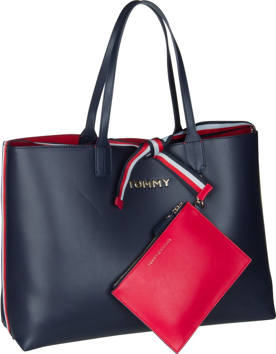 Handtasche Iconic Tommy Tote 6446 Corporate (innen: Rot)