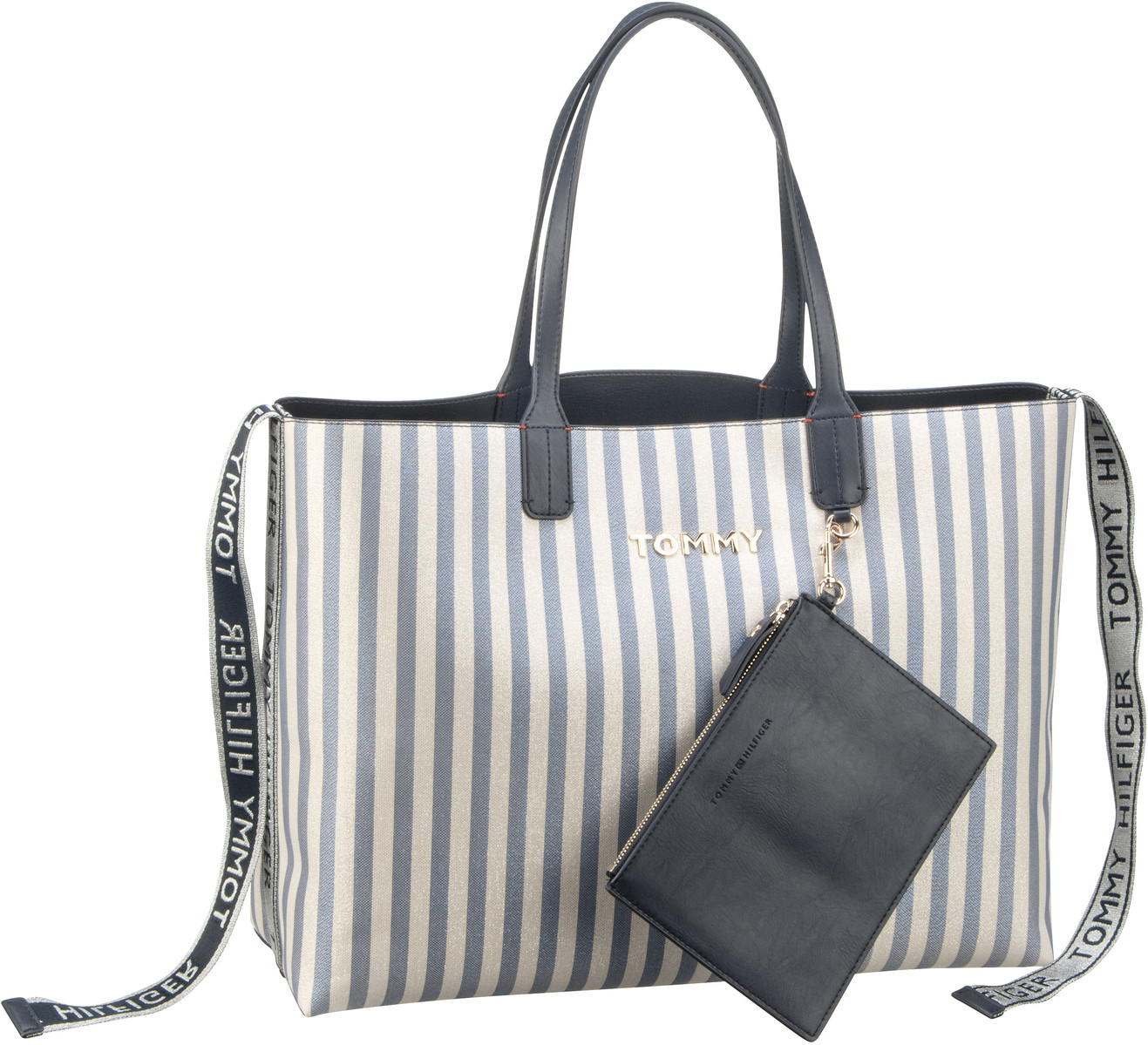 Shopper Iconic Tommy Tote Canvas Glitter (innen: Navy)