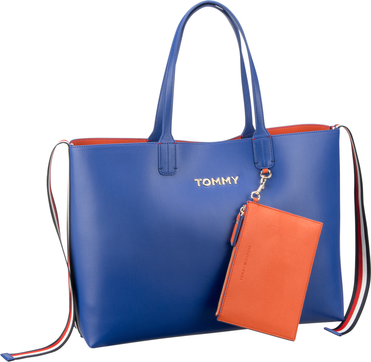 Shopper Iconic Tommy Tote Surf the Web/Koi (innen: Orange)