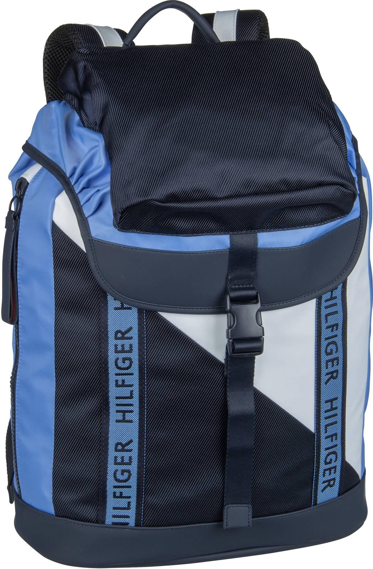 Rucksack / Daypack Color Mix Flap Backpack 4890 Blue Mix