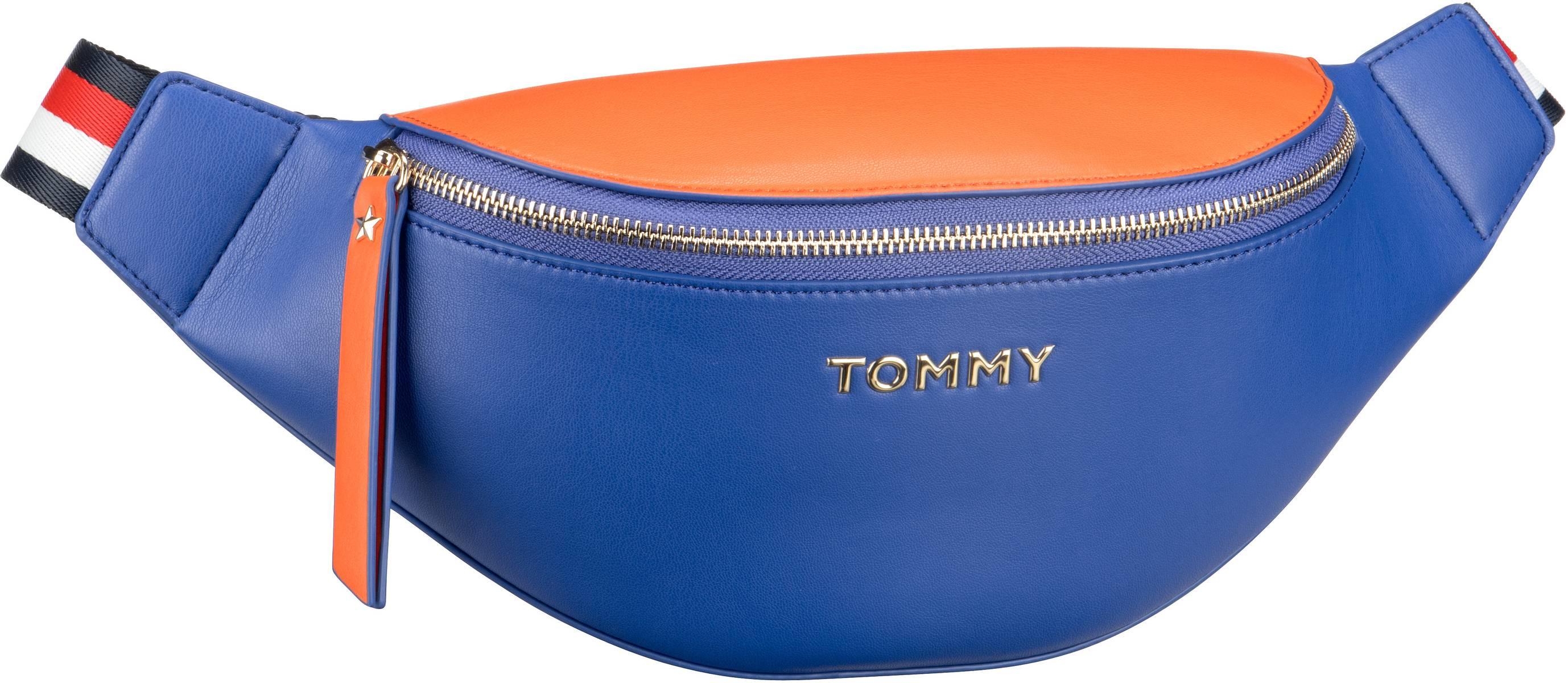Kleinwaren für Frauen - Tommy Hilfiger Gürteltasche Iconic Tommy Bumbag 7044 Cyber Yellow Warm Sand (innen Orange)  - Onlineshop Taschenkaufhaus
