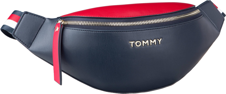 Kleinwaren für Frauen - Tommy Hilfiger Gürteltasche Iconic Tommy Bumbag 7044 Corporate (innen Rot)  - Onlineshop Taschenkaufhaus