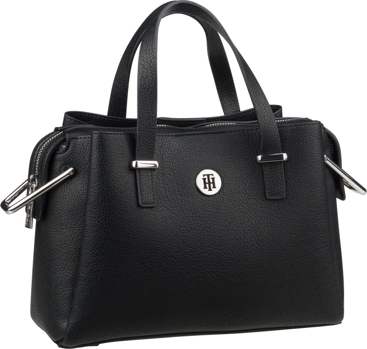 Handtasche TH Core Med Satchel Black