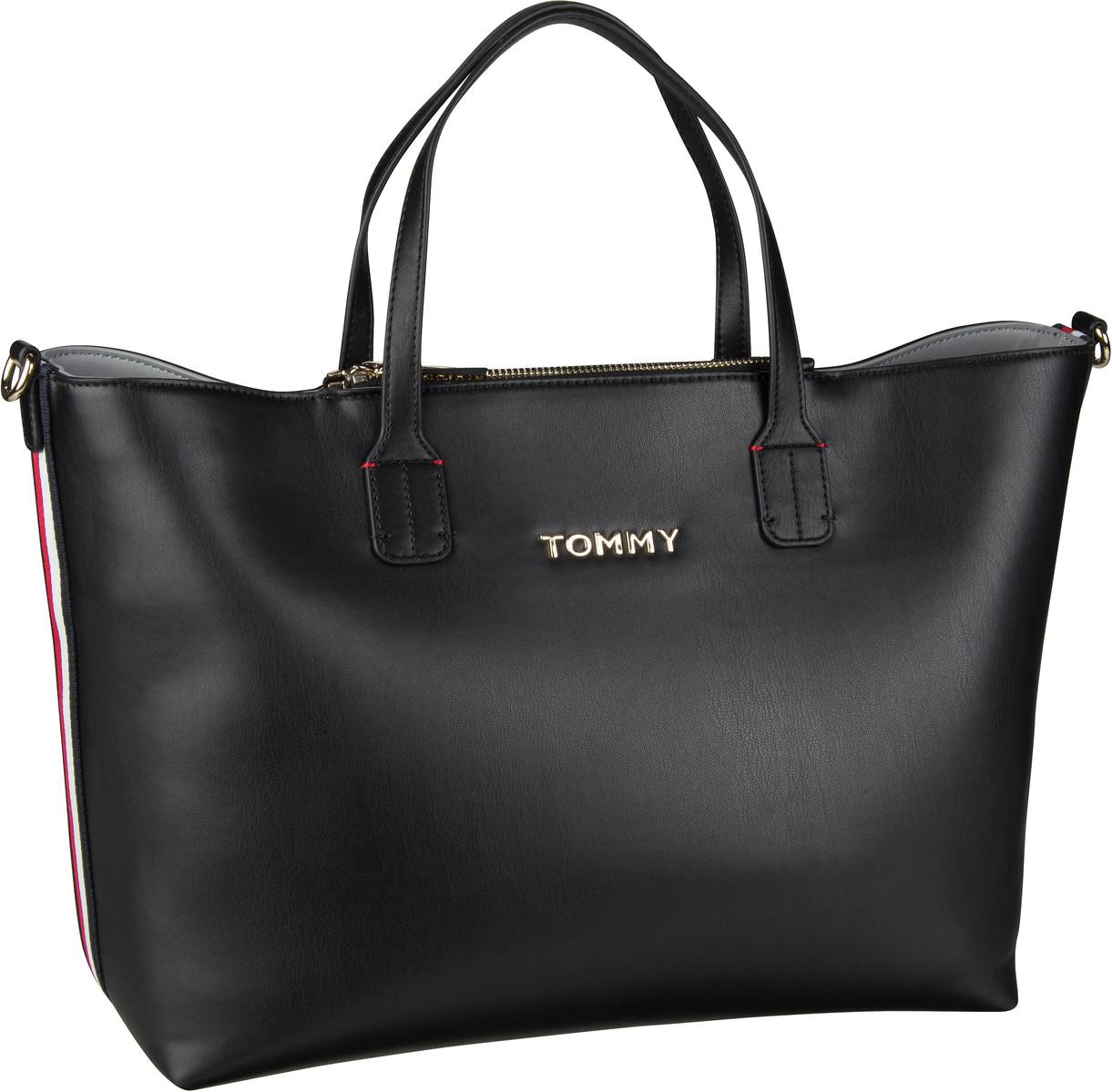 Handtasche Iconic Tommy Satchel Black