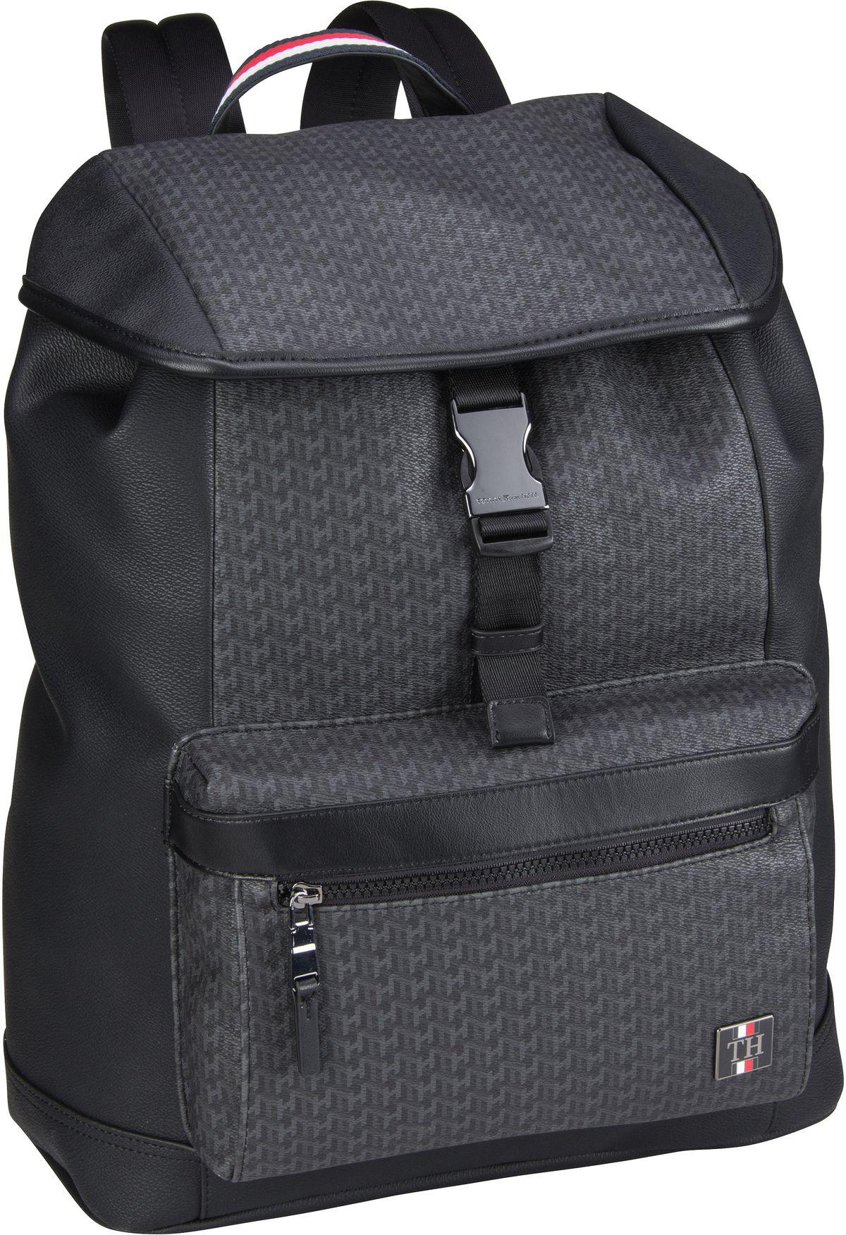 Rucksack / Daypack Coated Canvas Flap Backpack 5267 Black Monogram