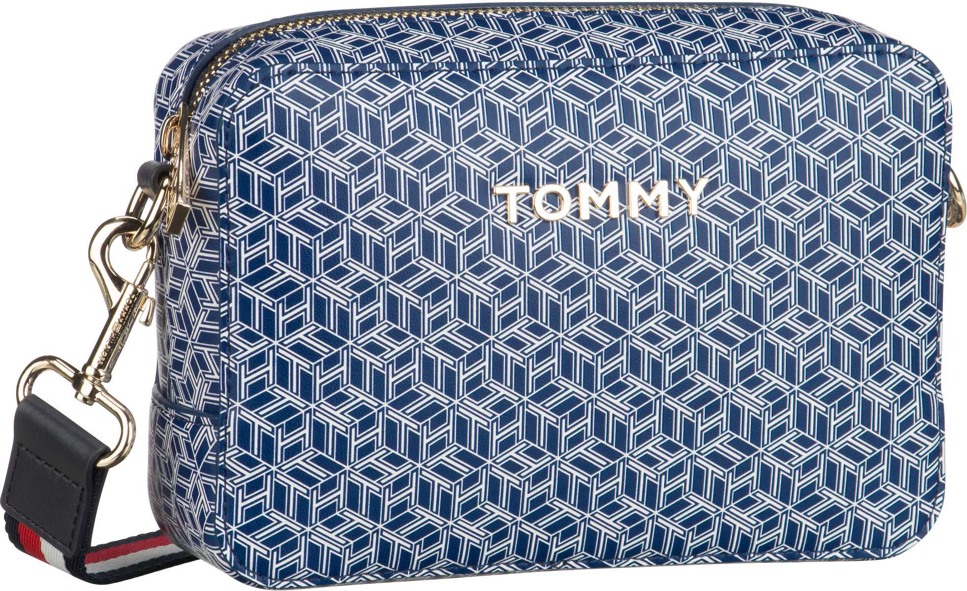 Umhängetasche Iconic Tommy Camera Bag Monogram SP20 Blue Ink