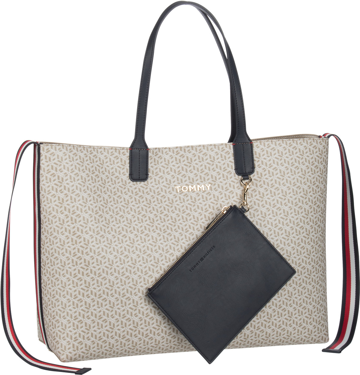 Handtasche Iconic Tommy Tote Monogram SP20 Stone