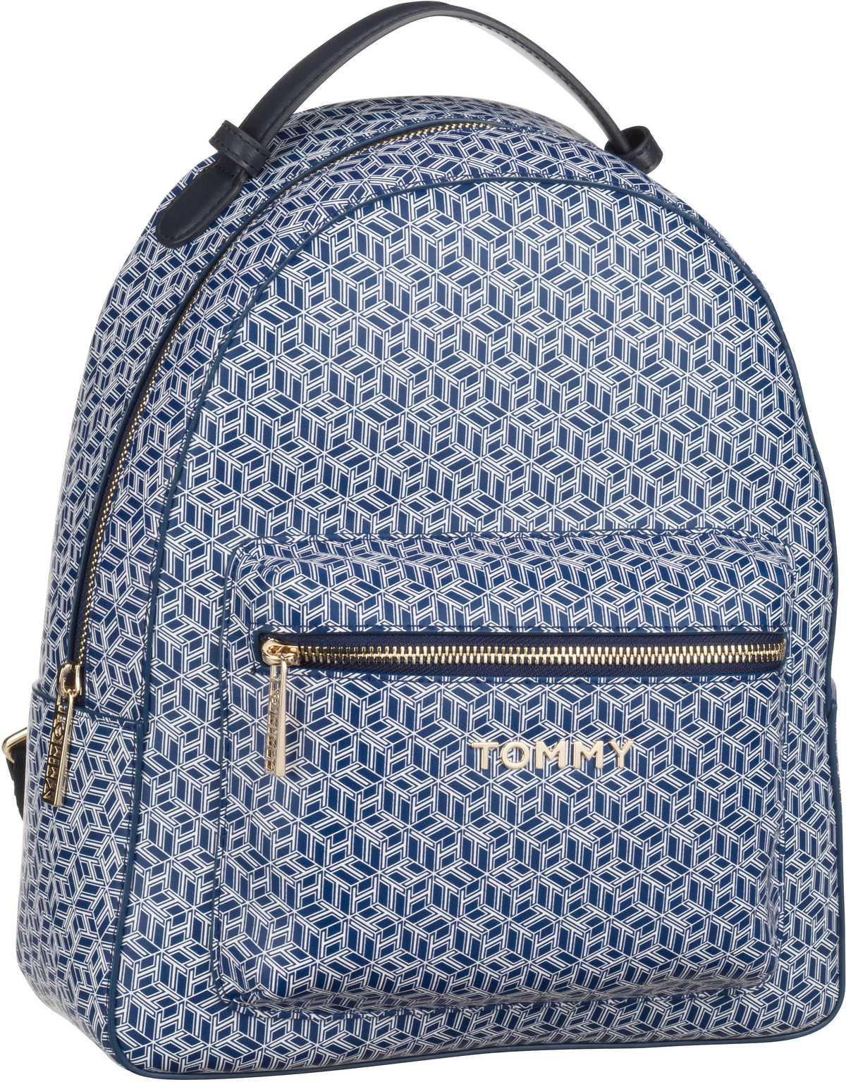 Rucksaecke - Tommy Hilfiger Rucksack Daypack Iconic Tommy Backpack Monogram SP20 Blue Ink  - Onlineshop Taschenkaufhaus