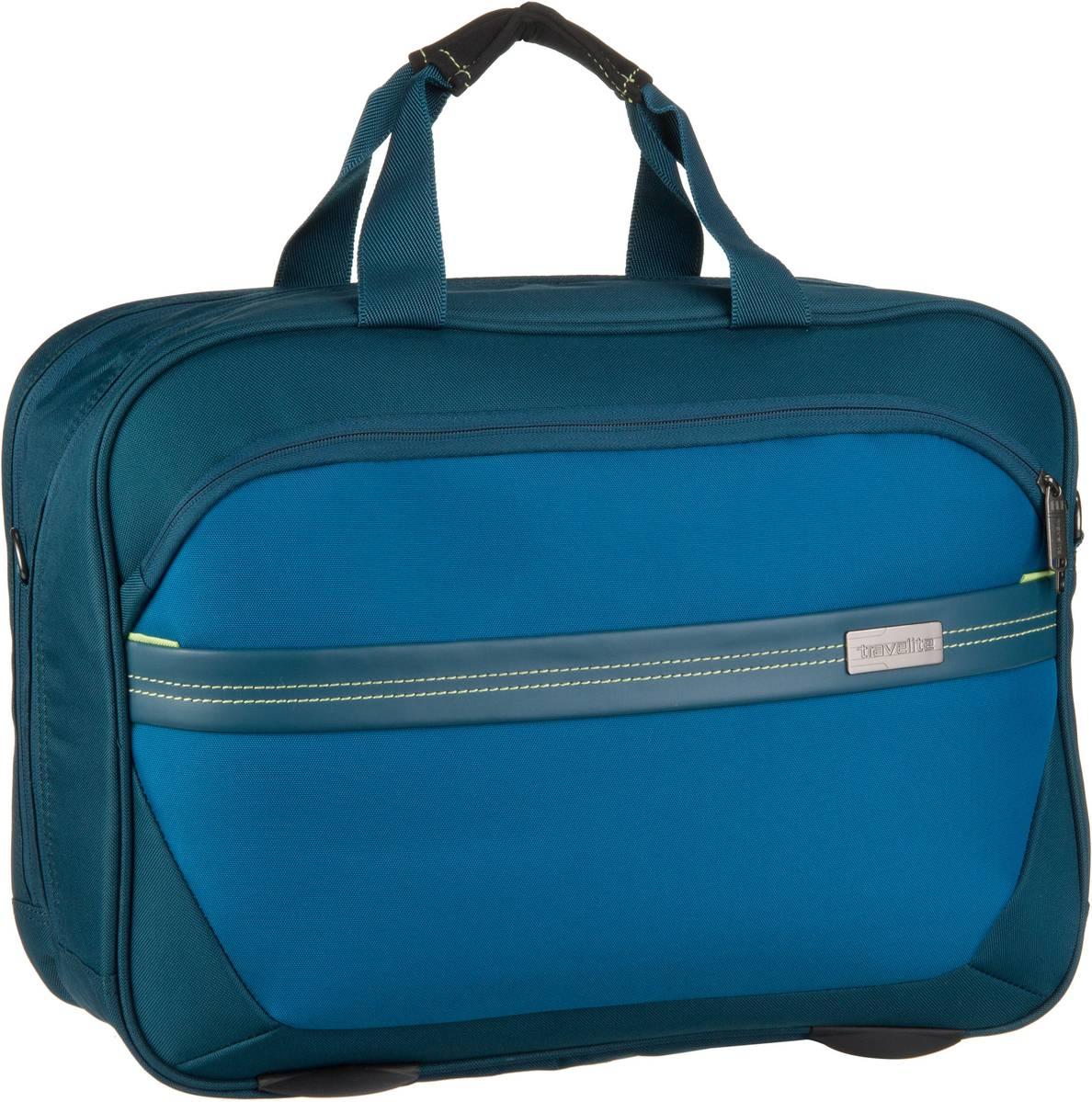 Businesstaschen für Frauen - travelite Aktentasche Meteor Bordtasche Petrol  - Onlineshop Taschenkaufhaus