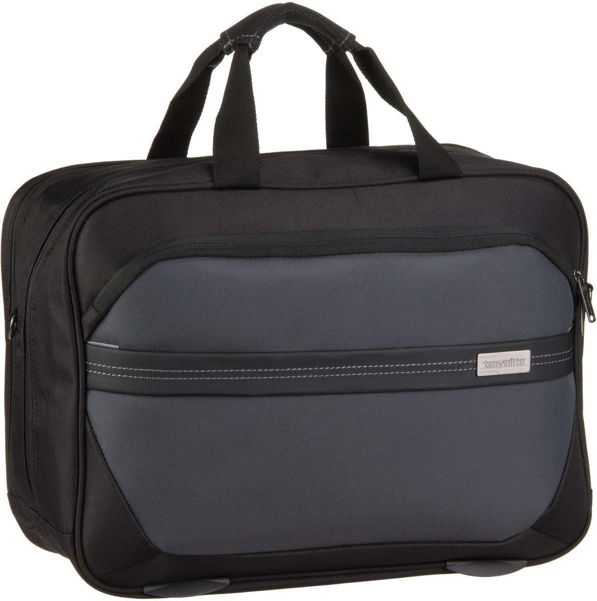 Businesstaschen für Frauen - travelite Aktentasche Meteor Bordtasche Schwarz  - Onlineshop Taschenkaufhaus