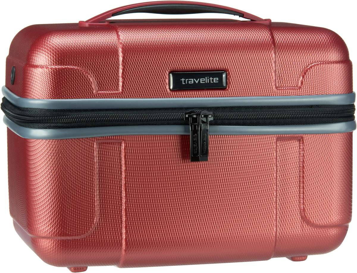 Reisegepaeck für Frauen - travelite Kulturbeutel Beauty Case Vector Beautycase Koralle  - Onlineshop Taschenkaufhaus