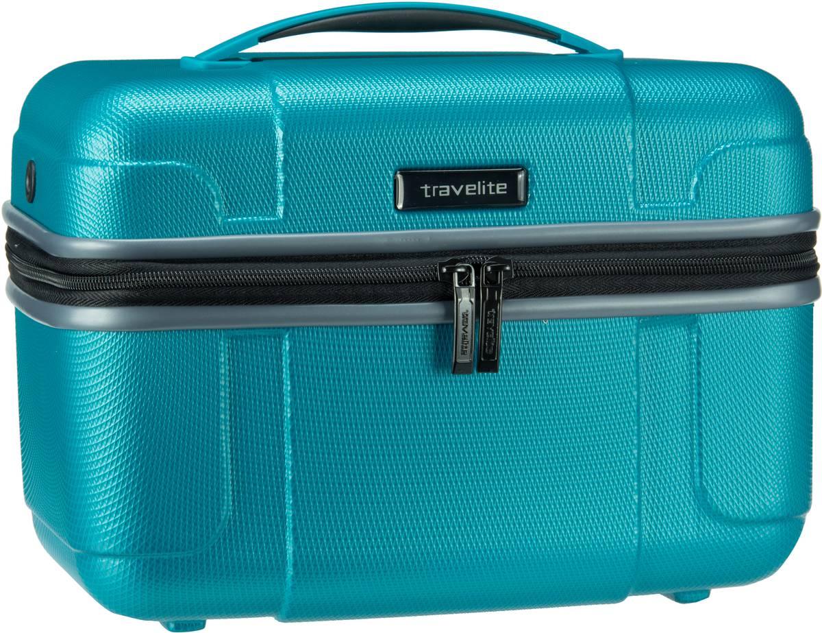 Reisegepaeck - travelite Kulturbeutel Beauty Case Vector Beautycase Türkis  - Onlineshop Taschenkaufhaus