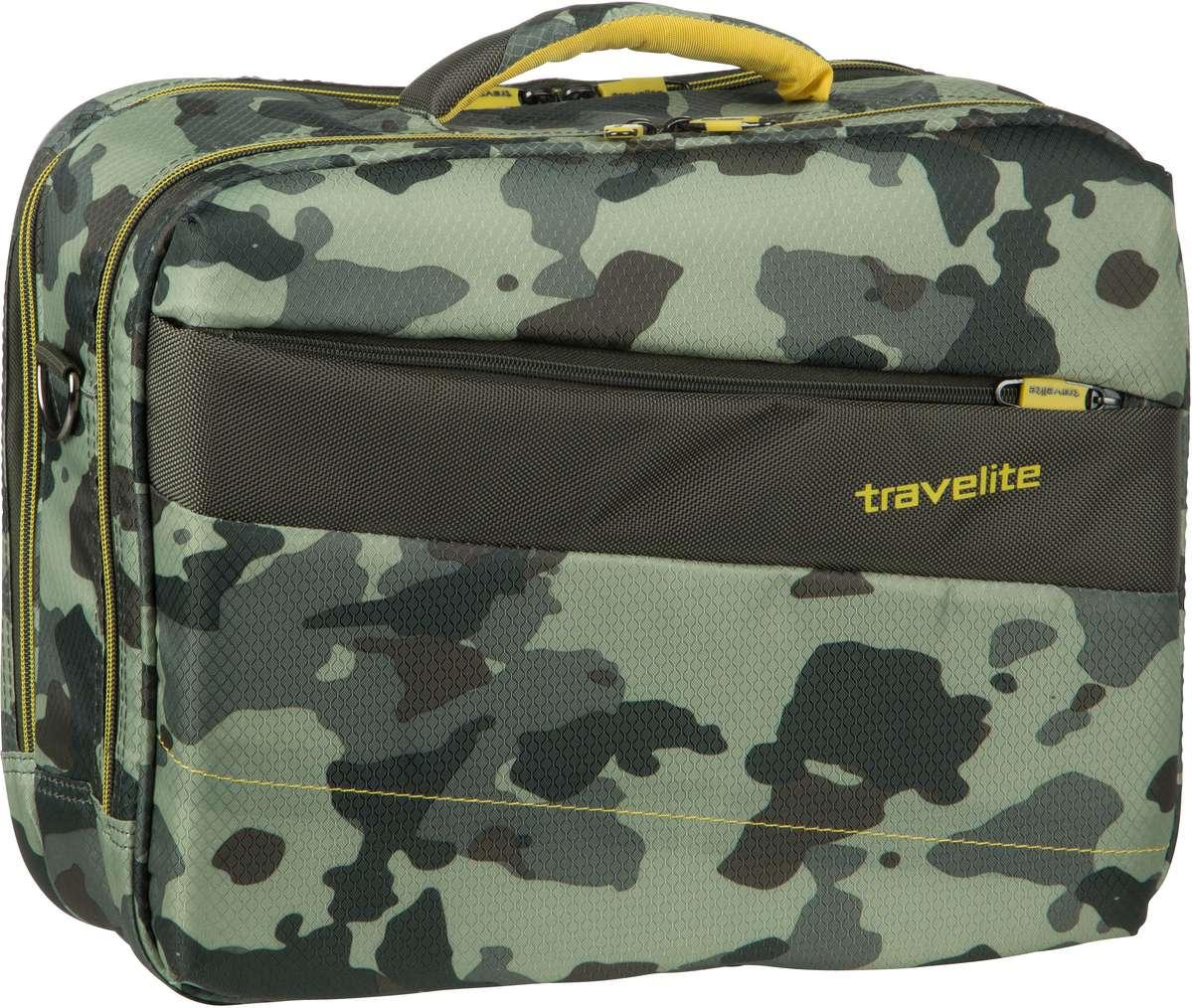 Businesstaschen für Frauen - travelite Aktentasche Kite Bordtasche Camouflage (20 Liter)  - Onlineshop Taschenkaufhaus