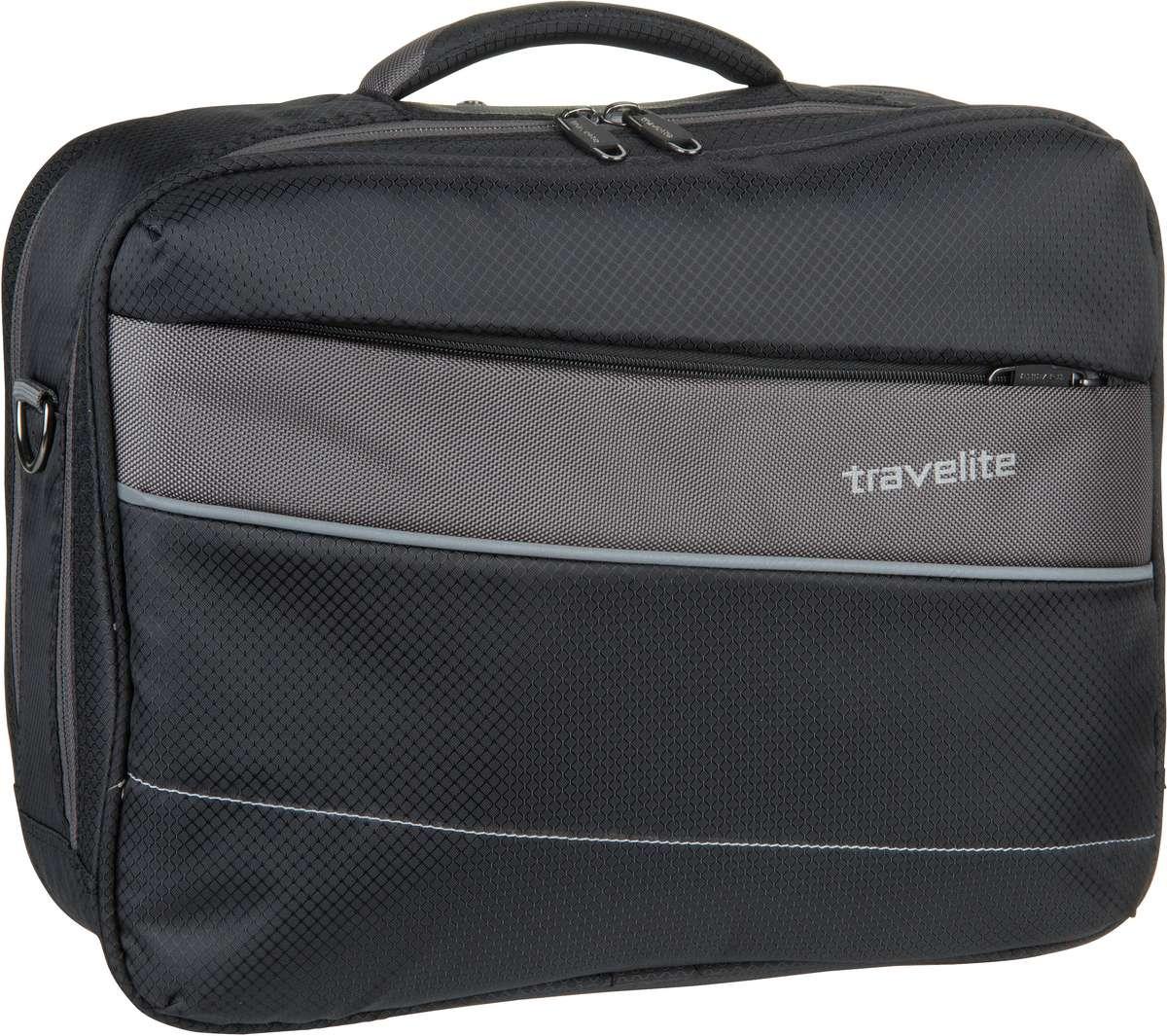 Businesstaschen für Frauen - travelite Aktentasche Kite Bordtasche Schwarz (20 Liter)  - Onlineshop Taschenkaufhaus