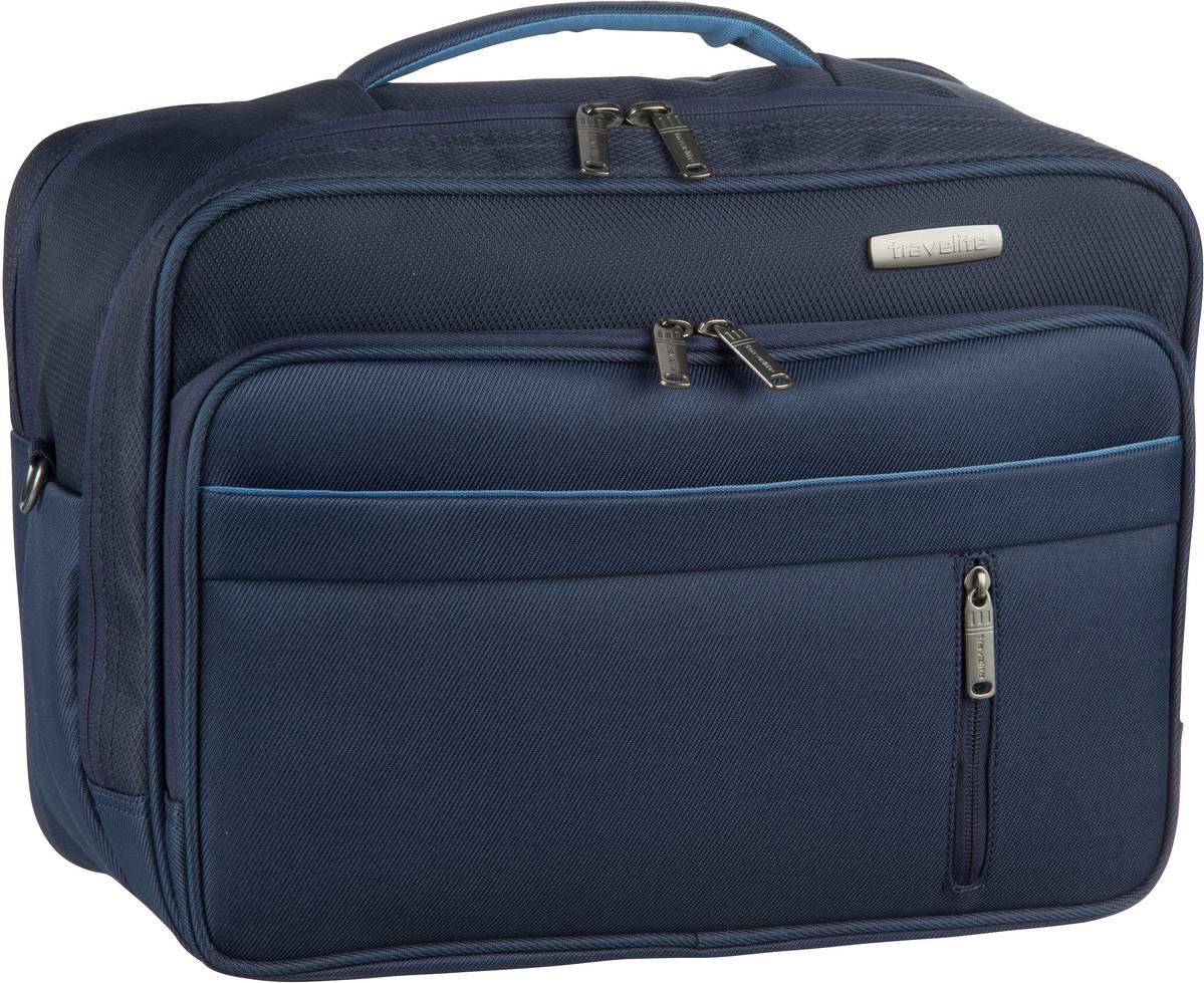 Businesstaschen für Frauen - travelite Aktentasche Capri Bordtasche Marine (20 Liter)  - Onlineshop Taschenkaufhaus
