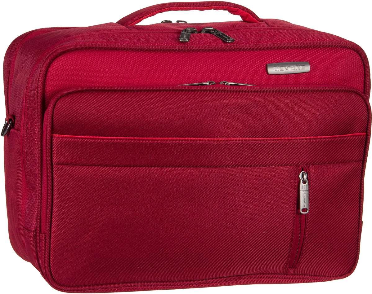 Businesstaschen für Frauen - travelite Aktentasche Capri Bordtasche Rot (20 Liter)  - Onlineshop Taschenkaufhaus