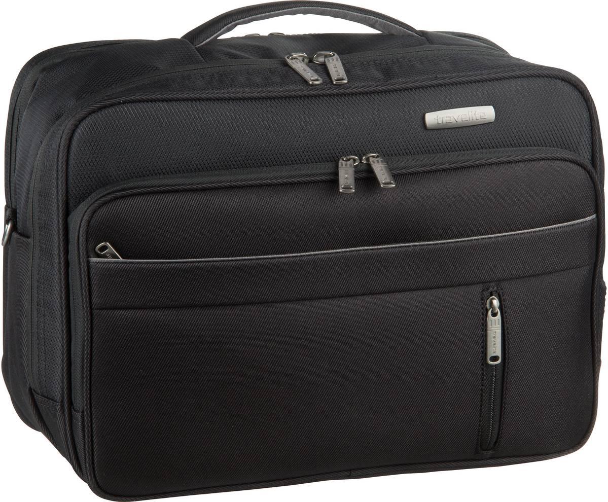 Businesstaschen für Frauen - travelite Aktentasche Capri Bordtasche Schwarz (20 Liter)  - Onlineshop Taschenkaufhaus