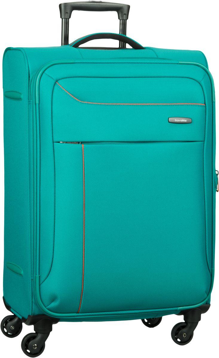 Schipkau Meuro Angebote travelite Solaris 4-Rad Trolley M exp Aqua/Orange - + Koffer
